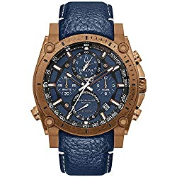 Bulova 97B186 Men's Precisionist Champlain Blue Strap Chrono Watch