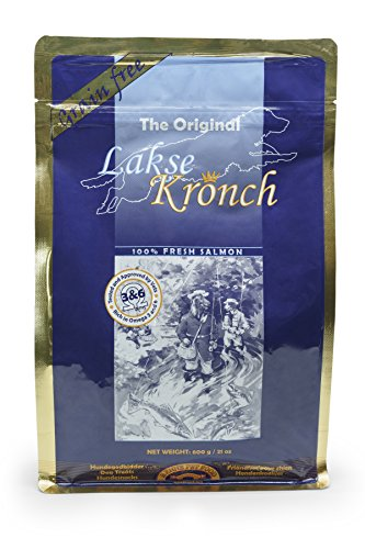 Lakse Kronch 100 Percent Fresh Baked Norwegian Salmon All Natural Dog Treats From Fresh Fish Processed Within 24 Hours of Being Caught No Fillers or Unnatural Preservatives