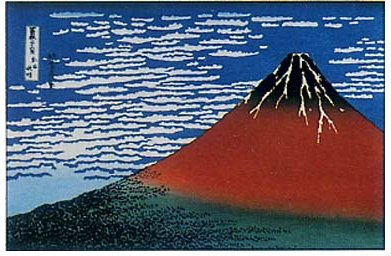 凱風快晴(赤富士)-葛飾北斎(HO-01)木版画 B003SA41UY