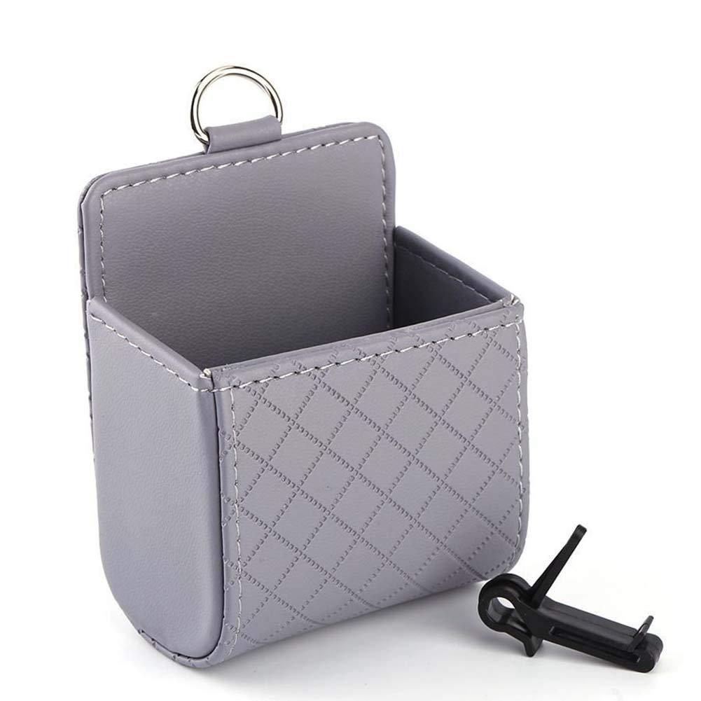 Caja de Almacenamiento para tel/éfono m/óvil Suszian Caja de Almacenamiento para Coche Bolsa de Almacenamiento de Piel sint/ética para Salida de Aire