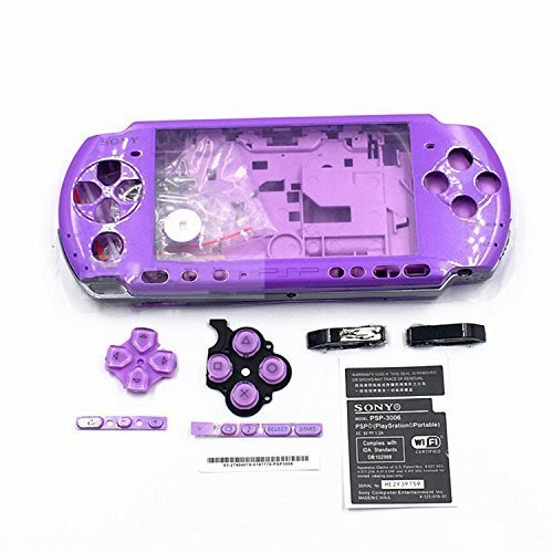 - Full Shell Housing Case Cover with Buttons Kit Set For Sony PSP3000 PSP 3000 3001 3002 3003 3004 Series Replacement - Purple