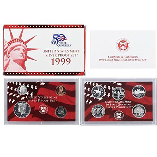 - 1999 S U.S. Mint Silver Proof Set - 9 Coins - OGP Superb Gem Uncirculated