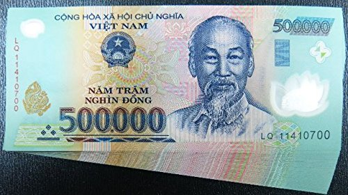 Vietnam 500,000 VND X 6 banknotes (total 3 million VND Dong)