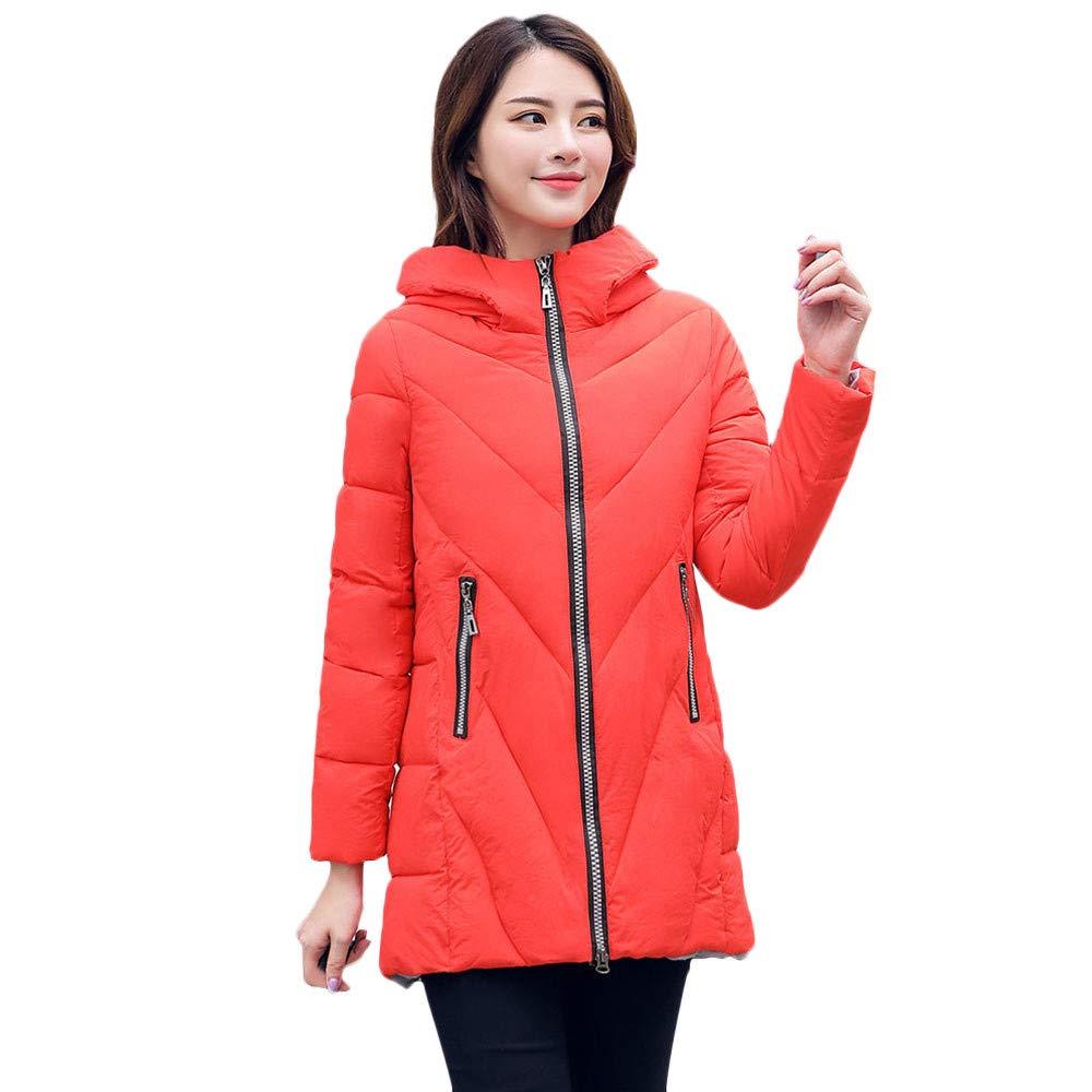 Seaintheson Women's Coats OUTERWEAR レディース B07HRFBTJ2  レッド Small
