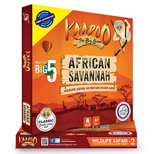 kaadoo Parents' Choice Award Winning Board Game African Savannah Migration Mania. Your Safari on The go! Bring The Mighty,Enchanting, and Educational Savannah Indoors.