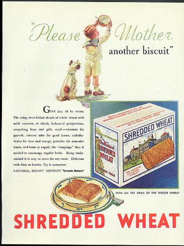 Please Mother another biscuit Nabisco Shredded Wheat ad 1931