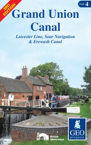 Grand Union Canal: Map 4: Leicester Line, Soar Navigation and Erewash Canal (Inland Waterways of Britain) ()