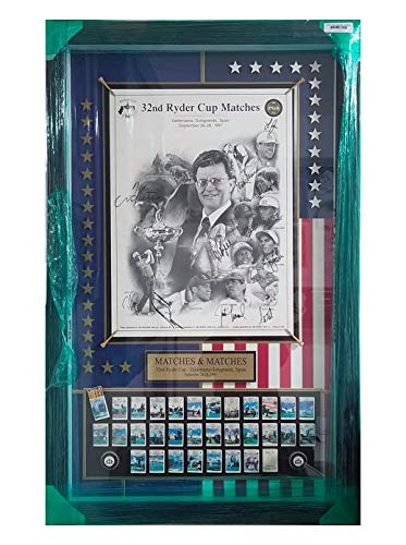 Golf History Shadow Box - Encore 32 Ryder Cup Matches Golf History Shadowbox Frame