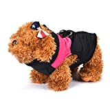 Binmer(TM)Small Medium Dog Winter Quilted Puffer Puffa Vest Coat harness Jacket Dog Clothes (S, Pink)