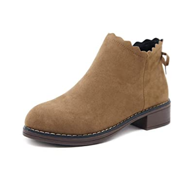 be8db64f8c407 DEELIN Womens Butterfly Short Boots Elasticated Square Low Heel Ankle Boots  Fashion Low Shoes Wedge Short Bootie Solid Ladies Shoes Chelsea Boots: ...