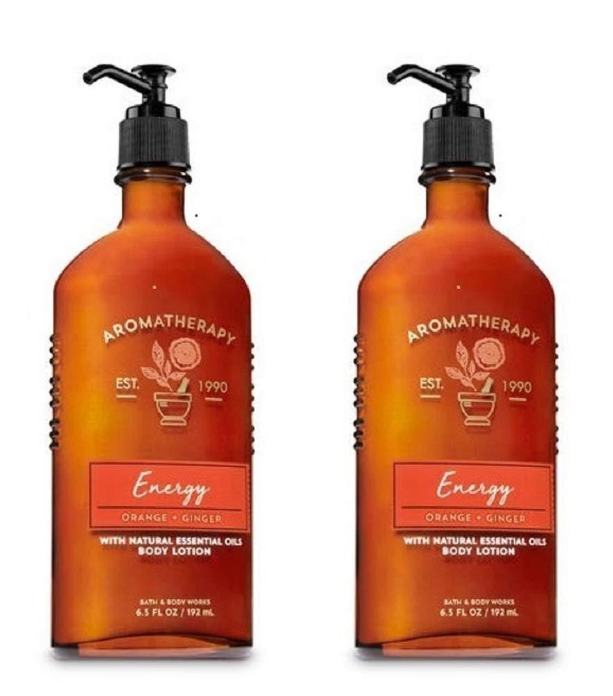 Bath & Body Works Aromatherapy Energy - Orange + Ginger Body Lotion, 6.5 Fl Oz, 2-Pack