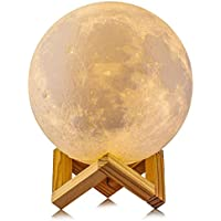 20 cm Dimmable 3D Magical Moon Lamp USB LED Night Light Moonlight Touch Sensor Lamp