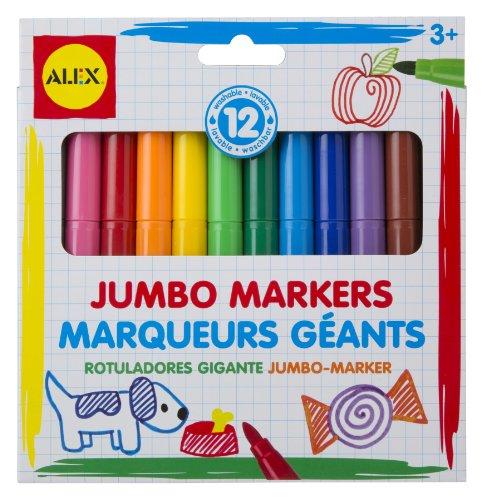 ALEX Toys Artist Studio 12 Washable Jumbo Markers