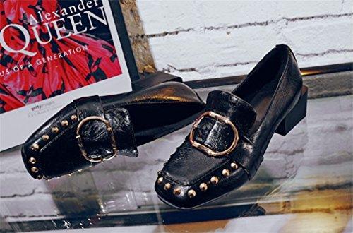 Lady Saison Satin A Black Hochzeit 4 Sexy Blink Mode 8 Schuhe CLOVER Kätzchen 5 Geschenk cm Frauen Pumpen Braut LUCKY Ferse Mädchen Freizeitschuhe OPWpXqSSB