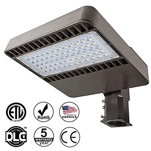 KAWELL 48W LED Parking Lot Light, 5000-5300K, 5280 lumen, Direct Wiring AC 100-277V, Street Light Pole Head Replacement, ROHS ETL DLC CE, 5 Years (Street 100 Watt 3 Light)