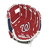 "Wilson A200 10"" Washington Nationals Glove Right Hand Throw, Red/Navy/White"