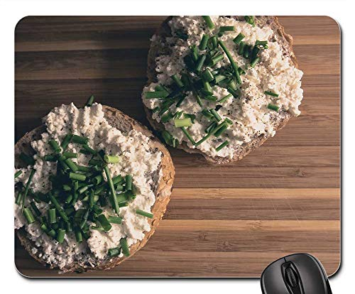 Mouse Pad - Food Breakfast Natural-Light Cottage-Cheese Chive (Best Cottage Cheese Brand)