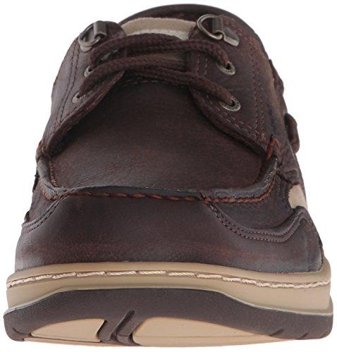 Bootsportschuhe Taupe Clovehitch Herren Leather Sebago Dark IL Brown n5Ct8xf8