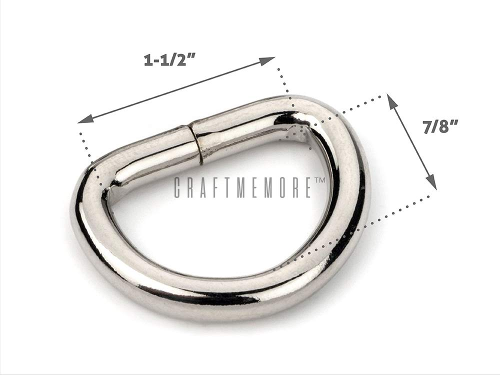 CRAFTMEmore D-Ring Findings Metal Non Welded D Rings for Belts Bags Landyard Leathercraft Available 4 Colors 1 1//4 /& 1 1//2 Inches Pack of 20 1 1//4 Inches, Gunmetal