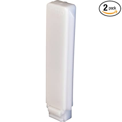 Good Slide Co 16499 Closet Door Guide, White Plastic,(Pack Of 2)