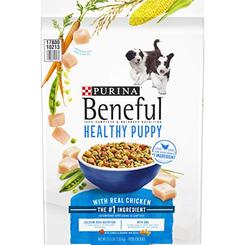 Purina Beneful Healthy Puppy with Real Chicken Dry Dog Food – 15.5 lb. Bag