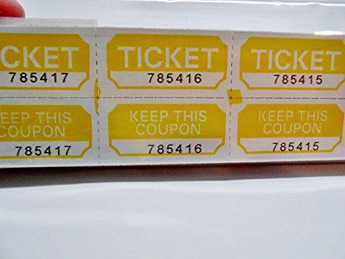 yellow double raffle ticket roll - 5