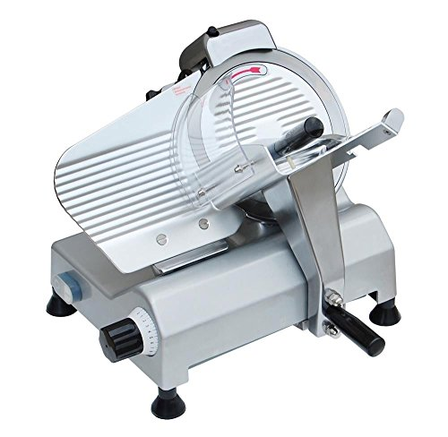 "GHP Commercial 10"" Stainless Steel Blade Deli Meat Cheese Food Slicer 530RPM"