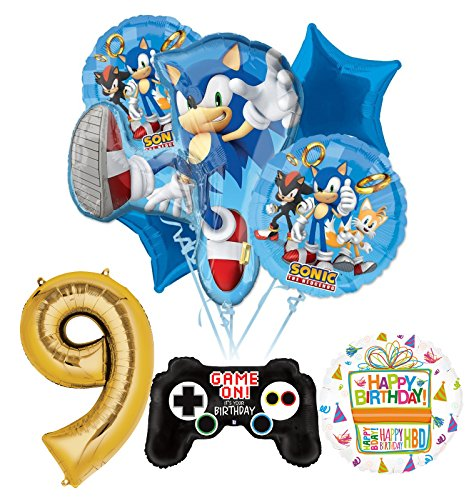 The Ultimate Sonic The Hedgehog 9th Birthday Party Supplies and Balloon Decorations -