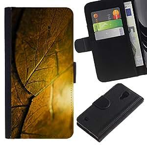 Be Good Phone Accessory // Caso del tirón Billetera de Cuero Titular de la tarjeta Carcasa Funda de Protección para Samsung Galaxy S4 IV I9500 // krysha krovlya sloy list