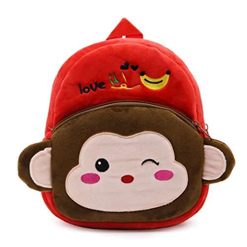 Toddler Schoolbag Plush Backpack Baby Shoulder Bag (Monkey)