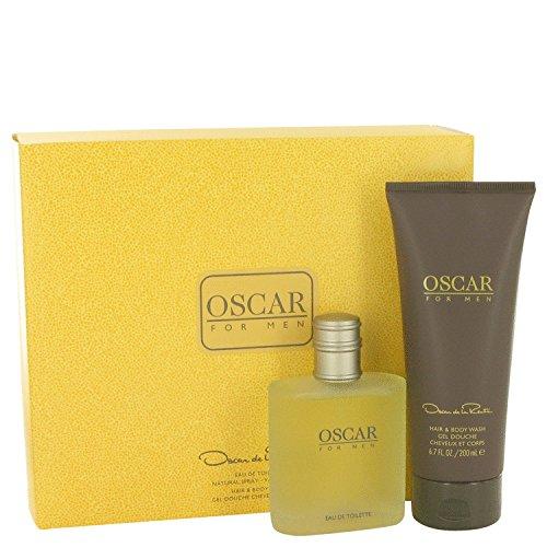 OSCAR by Oscar de la Renta Gift Set -- 3.4 oz Eau De Toilette Spray + 6.7 oz Hair & Body Wash for Men ()