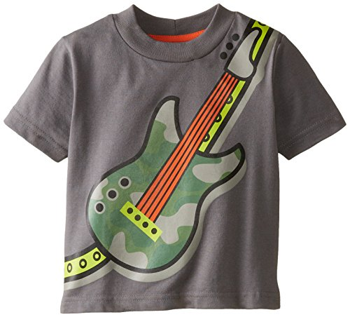 Gerber Graduates Baby Boys' Short Sleeve T Shirt Guitar, Dark Gray, 12 Months