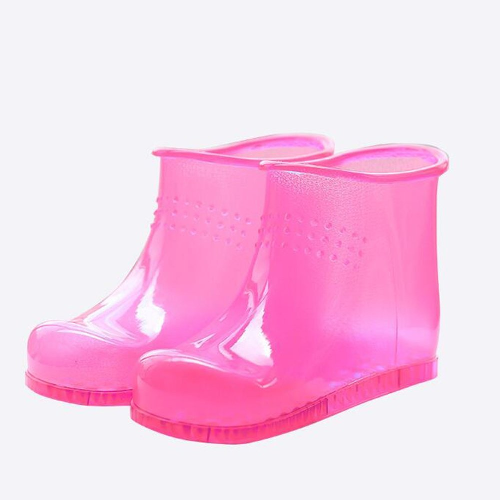 FJY Foot Bath Spa Boots High Tube Shoes Care Basin Soothe and Relax Tired Feet, Pink