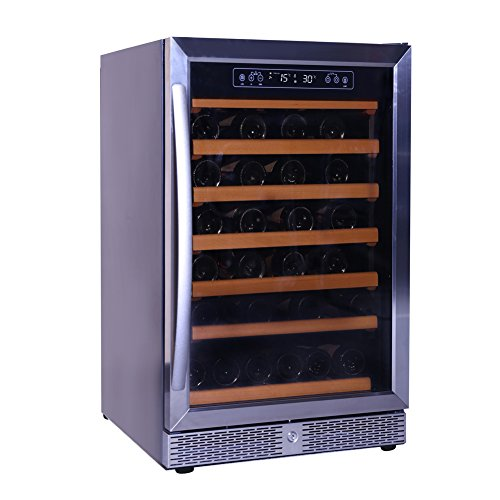 24' Undercounter Wine Cooler (Smad 24'' Wine refrigerator 46 Bottle Built-in or Freestanding with Stainless Steel)