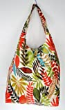 Trendy Sturdy Shopping Tote Bag - Color Leaves Pattern