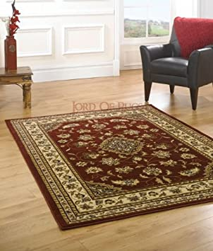 Runner, Red Runner 2x77 Lord of Rugs Sherborne Quality Traditional Classic Red Rug 60x230cm