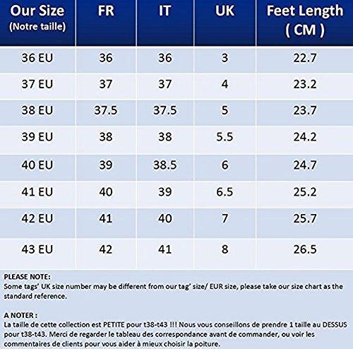 YNXZ 4 De Zapatos La Cinco Mujeres Personalidad 35 Dedos Redonda Colores Cuero Sandalias Marrón Moda Yardas 40 Caucho Color Cabeza Corbata Tamaño 40 SHOE Zapatos De Amarillo Planos ZwrxYUqZ