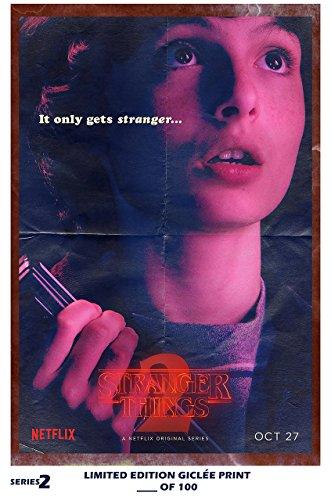Rare Poster thick mike Stranger Things 2 finn wolfhard tv Reprint #'d/100!