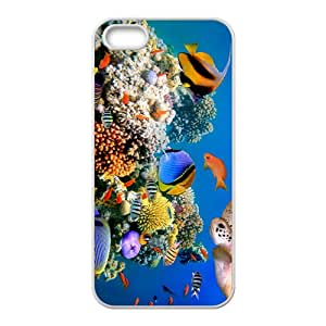 Fascinating Sea World Hight Quality Plastic Case for Iphone 5s