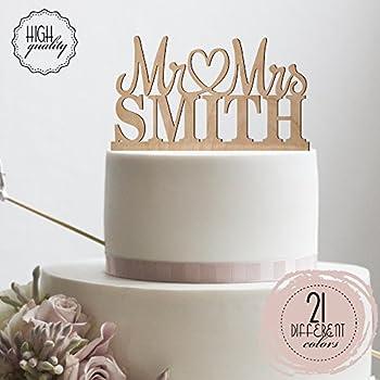 Amazon.com: Sugar Yeti | Custom Personalized Mr & Mrs Wedding Cake ...