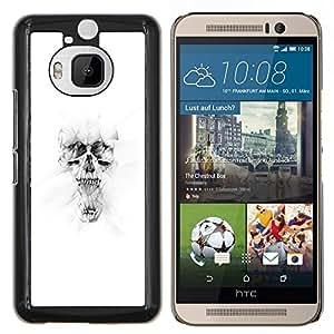 Jordan Colourful Shop - White Skull For HTC One M9+ / M9 PLUS Personalizado negro cubierta de la caja de pl????stico