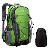 Netchain Camping Backpack Large Trekking Rucksacks, Lightweight Waterproof Hiking Rucksack 40 45 Litre Outdoor Travel Bags, DofE Suitable Backpacks Green