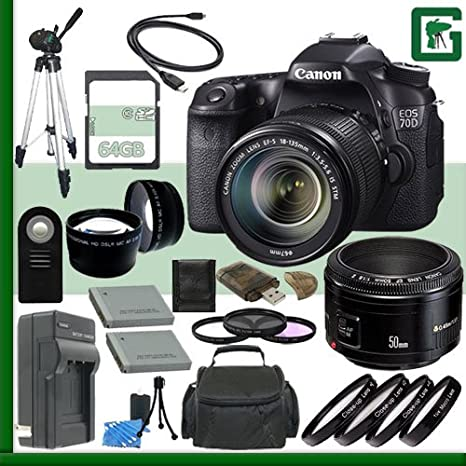 Cámara réflex digital Canon EOS 70d 20,2 Mpx, pantalla LCD de 3 ...