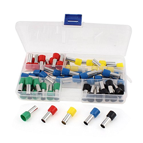 Uxcell Wire Crimp Connector Cord End Terminal Insulated Ferrule 4 AWG with 60 Piece
