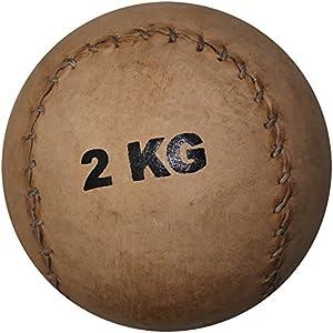 Medizinball aus Leder 2 kg - Ø 12,5 cm