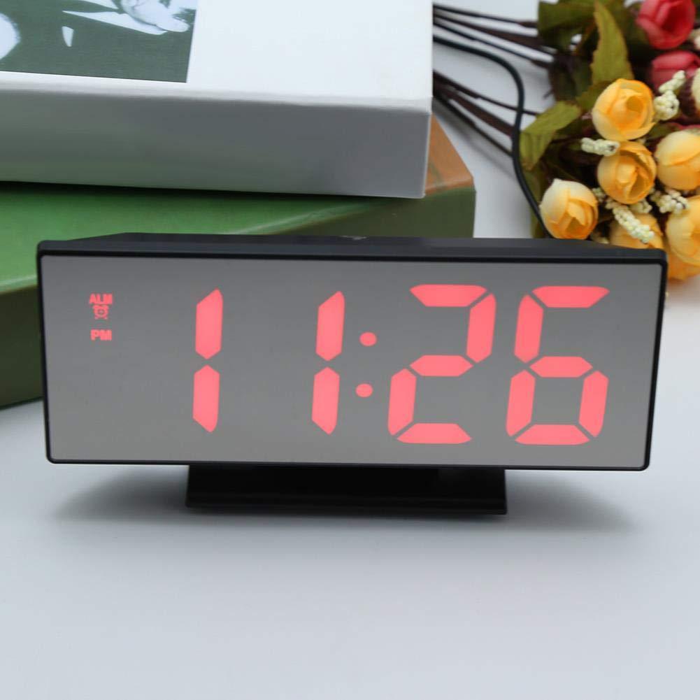 Amazon.com: Digital Alarm Clock LED Mirror Clock Multifunction Snooze Display Time Night Led Light Table Desktop Reloj Despertador USB: Home Audio & Theater