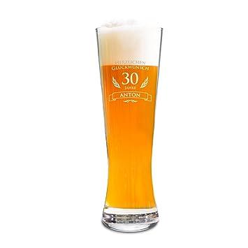 Amavel Weizenbierglas Mit Gravur Zum 30 Geburtstag Personalisiert
