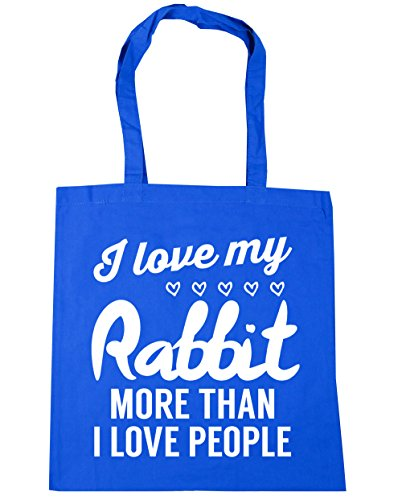 I love x38cm Bag rabbit I Shopping love my 42cm litres Cornflower 10 people Tote more Blue than HippoWarehouse Beach Gym ZYOSgnq