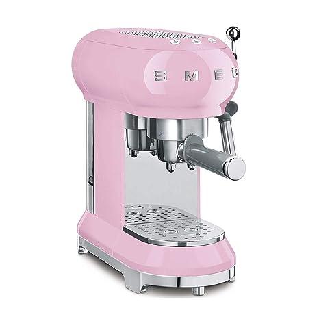 Amazon.com: Smeg ECF01PKUS - Cafetera espresso, color rosa ...