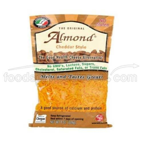 Lisanatti Cheddar Style Almond Shred, 8 Ounce -- 12 per case.